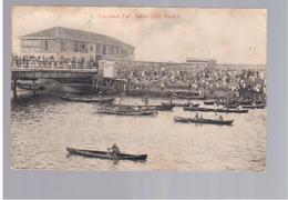 PAKISTAN Cocoanut Fair, Native Jetty, Karachi 1908 Old Postcard - Pakistan