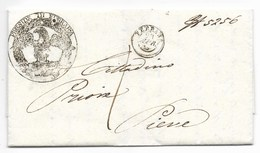 R.ROMANA - DAL FERRARA A PIEVE - 28.4.1849 - SANITARIA - ...-1850 Préphilatélie