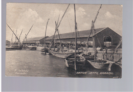 PAKISTAN Native Jetty - Karachi Ca 1915 Old Postcard - Pakistan