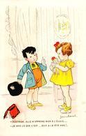 """Carte 1930 Signée Jean Cheval """"docteur , Elle N'apprend Rien à L'école"""" (poupée) - Cheval"""