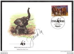 UGANDA FDC WWF 361 A Elefant Tiere (113754) - Uganda (1962-...)