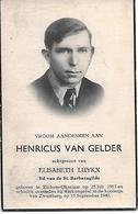 Van Gelder Henricus ( Zichem 1913 -werkongeval Koolmijnen Zwartberg 1949) - Religion & Esotérisme