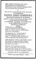 Geerinckx P.j. (gesneuveld  Heist Op Den Berg 1911 -veldwezelt 1940 - Religión & Esoterismo