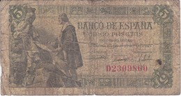BILLETE DE ESPAÑA DE 5 PTAS DEL 15/06/1945 SERIE D CALIDAD RC  (BANKNOTE) - [ 3] 1936-1975 : Regime Di Franco