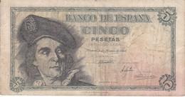 BILLETE DE ESPAÑA DE 5 PTAS DEL 1948 SERIE I CALIDAD RC (BANKNOTE) - [ 3] 1936-1975 : Regime Di Franco