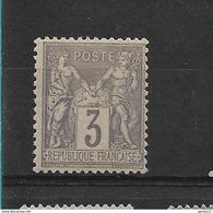 FRANCE  SAGE      N° 87 **     NEUF SANS CHARNIERE - 1876-1898 Sage (Type II)