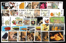 Sao Tome Und Principe: Lot Mit Diversen Versch. Werten, Gestempelt #200517-09 - Francobolli