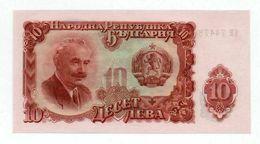 Bulgaria- 10 Leva -1951 Tractor  YEAR-UNC - Bulgarije