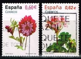 Spanien 2008/09,Michel# 4333, 4428 O Flowers - 1931-Hoy: 2ª República - ... Juan Carlos I