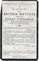 Matthys Antonia ( Wieze 1837 - Hofstade 1919 ) - Religión & Esoterismo