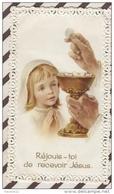 3AD1344  IMAGE PIEUSE DENTELLE REJOUIS TOI DE RECEVOIR JESUS  2 Scans - Images Religieuses