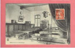 NANCY 1911 REFECTOIRE DU 37e REGIMENT INFANTERIE SALLE DE LECTURE ET BIBLIOTHEQUE CARTE EN BON ETAT - Nancy