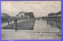 Carte Postale 60. Boran  Le Canal De L'Ecluse Très Beau Plan - Boran-sur-Oise