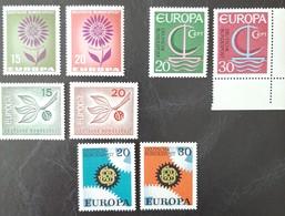 ALLEMAGNE R.F.A.   Europa 1964 1965 1966 Et 1967   N° Y&T  313, 314, 350, 351, 376, 377, 398 Et 399  ** - Unused Stamps