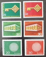 ALLEMAGNE R.F.A.   Europa  1968 1969 Et 1970   N° Y&T  423, 424, 446, 447, 483 Et 484  ** - Unused Stamps
