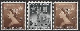 Cook 1953 Sc#145-6 MLH & Tokelau Islands 1953  Sc#4  QE  MNH  2016 Scott Value $6.65 - Tokelau