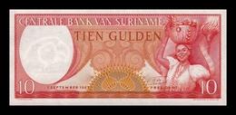 Surinam Suriname 10 Gulden 1963 Pick 121a SC UNC - Surinam