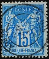-Sage N°90 Type Ll.(CAD) O .PARIS BERCY 15 SEPT 1880 - 1876-1898 Sage (Type II)