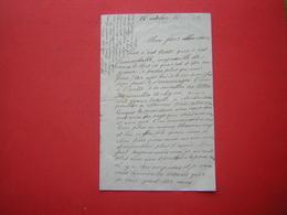 UNE LETTRE 2 VOLETS D'UN SOLDAT  LE 16 OCTOBRE 14 - 1914-18