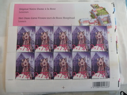 Belgique Belgie Kleine Blad Petite Feuille Numero 3663 Planche 2 ( Hopital Notre Dame A La Rose ) - Full Sheets
