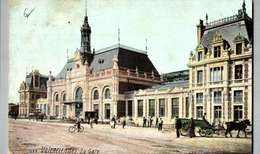 CPA-VALENCIENNES - La Gare (animée) / ATTELAGE  /VELO / LOT 4074 - Valenciennes