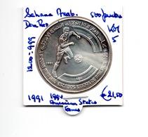 SAHARA ARABISCH DEMOCRATISCHE REPUBLIEK 500 PESETAS 1991 ZILVER AMERICAN STATES GAMES - Monedas