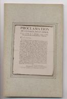 PROCLAMATION Du CONSEIL DE GUERRE - LILLE 2 Oct 1792 - An 1er République Française - Document Historique - Documents Historiques