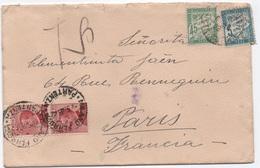 Lettre Italie Insuffisamment Affranchie TAXE Banderole Duval 45c Vert + 5c Bleu PARIS 1926 - Taxes