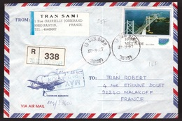 Vietnam, 1997 Registered Cover To France Franked Both Sides -CS50 - Viêt-Nam