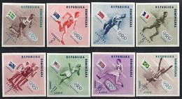 JUEGOS OLÍMPICOS - REPÚBLICA DOMINICANA 1957 - Yvert #457/61 Sin Dentar - MNH ** - Summer 1956: Melbourne