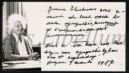 ❤️ Origineel Bedankingskaart / 100ste Verjaardag / Rentmeesteres / Jeanne Thielemans / Hingene / 1987 / Dijkgravin - Ohne Zuordnung
