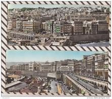 3AD1358 Lot 2  ALGER CARTE PANORAMIQUE 22 X 9 Bd Amiral Pierre Boulevard Carnot Prefecture Mairie 2 SCANS - Alger