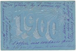 Bonne Année 1900 , Glückliches - Carte Gaufrée, Embossed - New Year