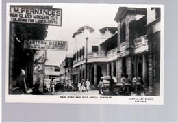 TANZANIA Zanzibar Main Road And Post Office 1956 Old Photo Postcard - Tanzania
