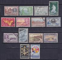 TONGA 1953, SG# 101-114, CV £26, Architecture, Ships, Used - Tonga (...-1970)