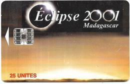 @+ TC De Madagascar : Eclipse 2001 - 25U -  SC7 - 200 000ex ( Ref : MDG-39 ) - Madagaskar