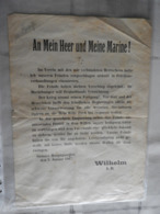 Orig.Flugblatt Von Kaiser Wilelm  I.R. 1917 - Decrees & Laws