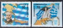GRECE / YT 1678B - 1679B / EUROPE - ÉPIRE - CRÊTE - DRAPEAU - MACÉDOINE - ELEFTHERIOS / NEUFS ** / MNH / COTE : 10.00 € - Griechenland
