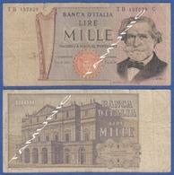 ITALY ITALIA 1000 Lire 1968-81 A VERDI And  SCALA DECR. 11 MARZO 1971 E 26 FEBBRAIO 1969 - 1000 Lire
