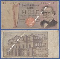 ITALY ITALIA 1000 Lire 1968-81 B VERDI And  SCALA DECR. 15 FEBBRAIO 1973 E 26 FEBBRAIO 1969 - 1000 Lire