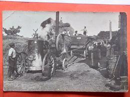 CPA. Photo. Machine à Battre Avec Machine à Vapeur Merlin & Cie.   (D1.158) - Agriculture