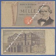 ITALY ITALIA 1000 Lire 1968-81 C VERDI And  SCALA DECR. 5 AGOSTO 1975 E 26 FEBBRAIO 1969 - 1000 Lire