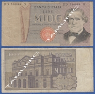 ITALY ITALIA 1000 Lire 1968-81 E VERDI And  SCALA DECR. 20 FEBBRAIO 1980 E 26 FEBBRAIO 1969 - 1000 Lire