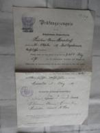 Orig.Prüfungszeugnis  Münster 1910 - Faire-part