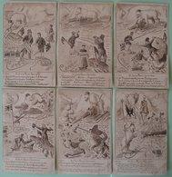 Série 6 CPA Guerre Russo-Japonaise Corée Ours Blanc Tsar Nicolas II Satirique Par Alfred Louis THOMAS 1904 Chine Japon - Russia