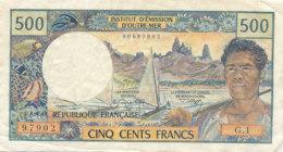 BILLET CINQ CENTS FRANCS-BANQUE  NOUVELLE CALEDONIE INSTITUT D4EMISSION D'OUTRE MER  NOUMEA - Nouméa (Nuova Caledonia 1873-1985)
