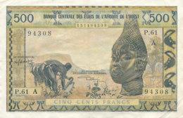 BILLET CINQ CENTS FRANCS-BANQUE  CENTRALE DES ETATS DE L'AFRIQUE DE L'OUEST - Westafrikanischer Staaten