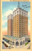 North Carolina Durham Washington Duke Hotel 1943 Curteich - Durham