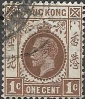 HONG KONG 1912 King George VI - 1c - Brown FU - Hong Kong (...-1997)
