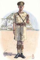 Sergeant Major Prince Of Wales Yorkshire Regiment Uniform Postcard - Militari